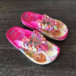 Disney Frozen Elsa Ana Seashell Flip Flops